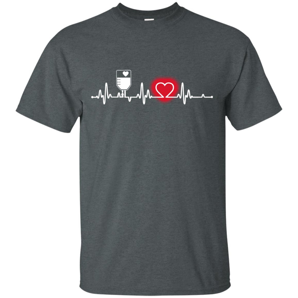 Heart Beat Red Clinical Nurse Tshirt For Lover