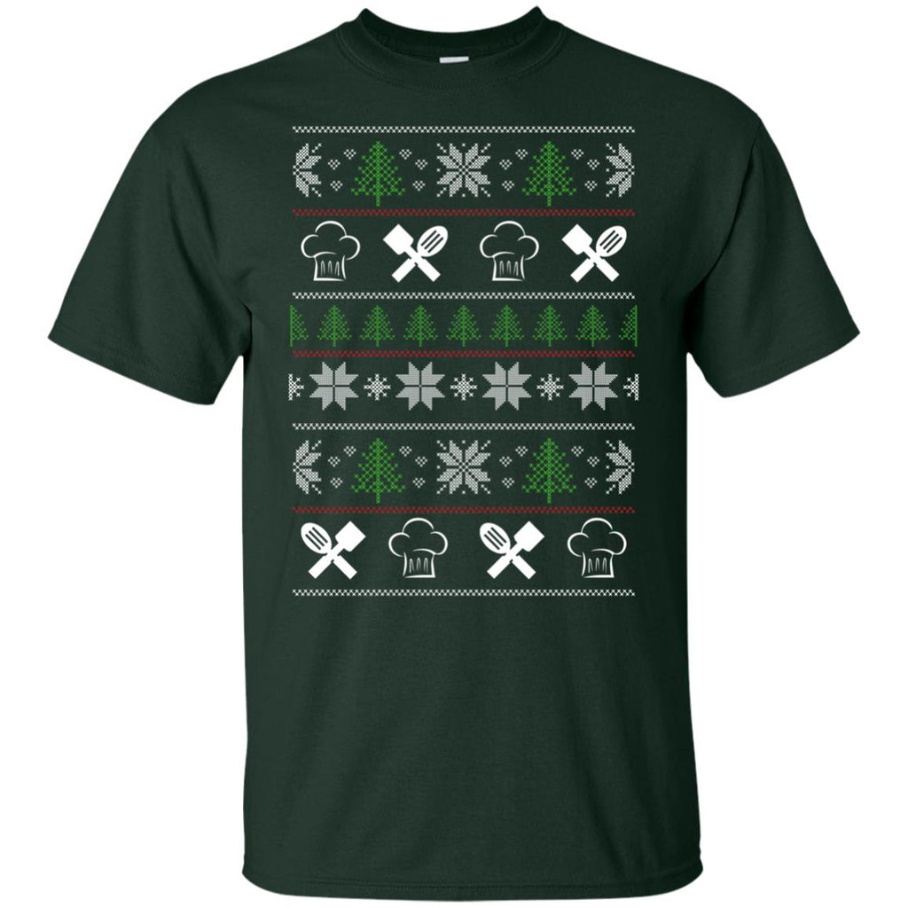 Ugly Sweater Chef Symbol T Shirts