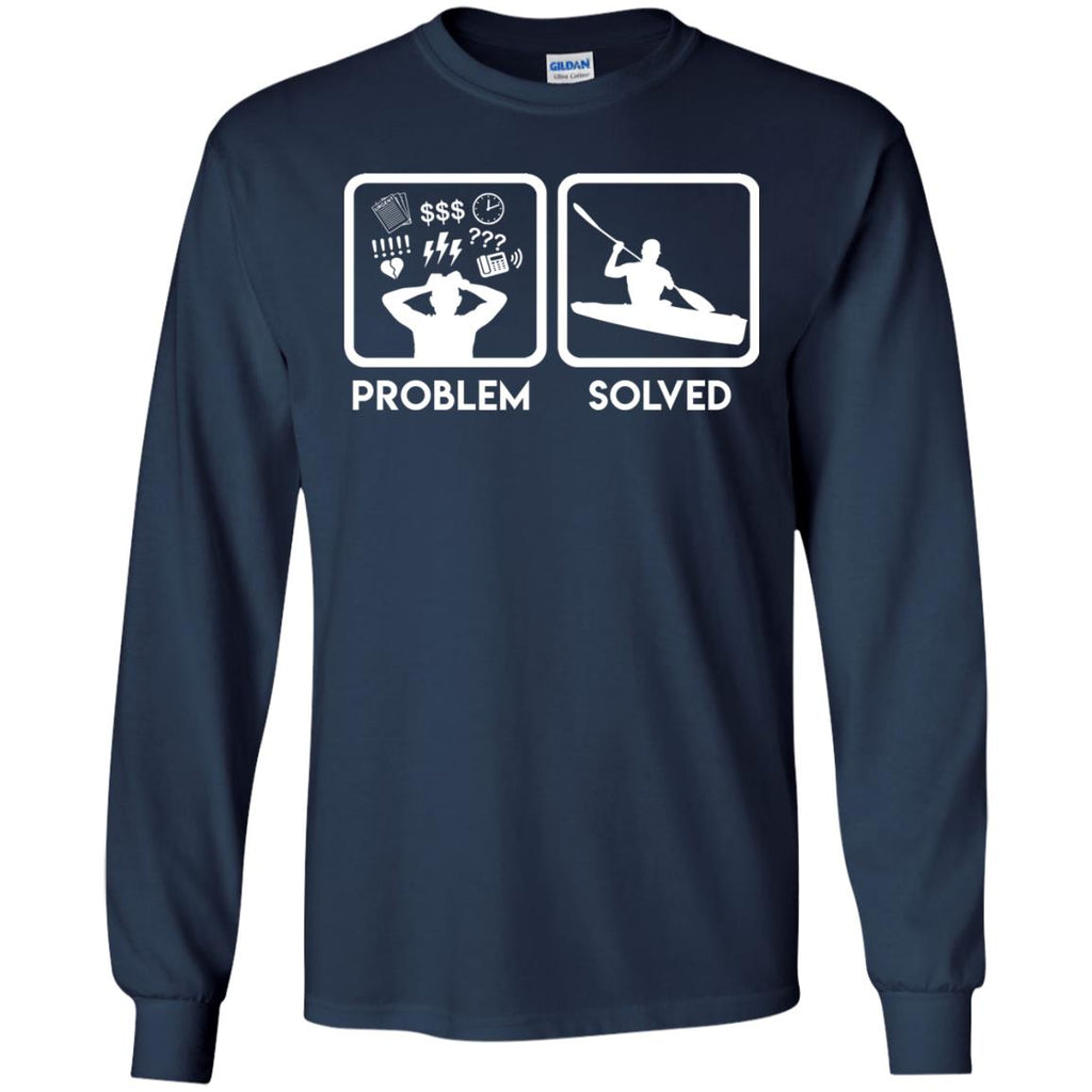 Nice Kayaking T-Shirt Problem Solved With Kayaking is best gift for you