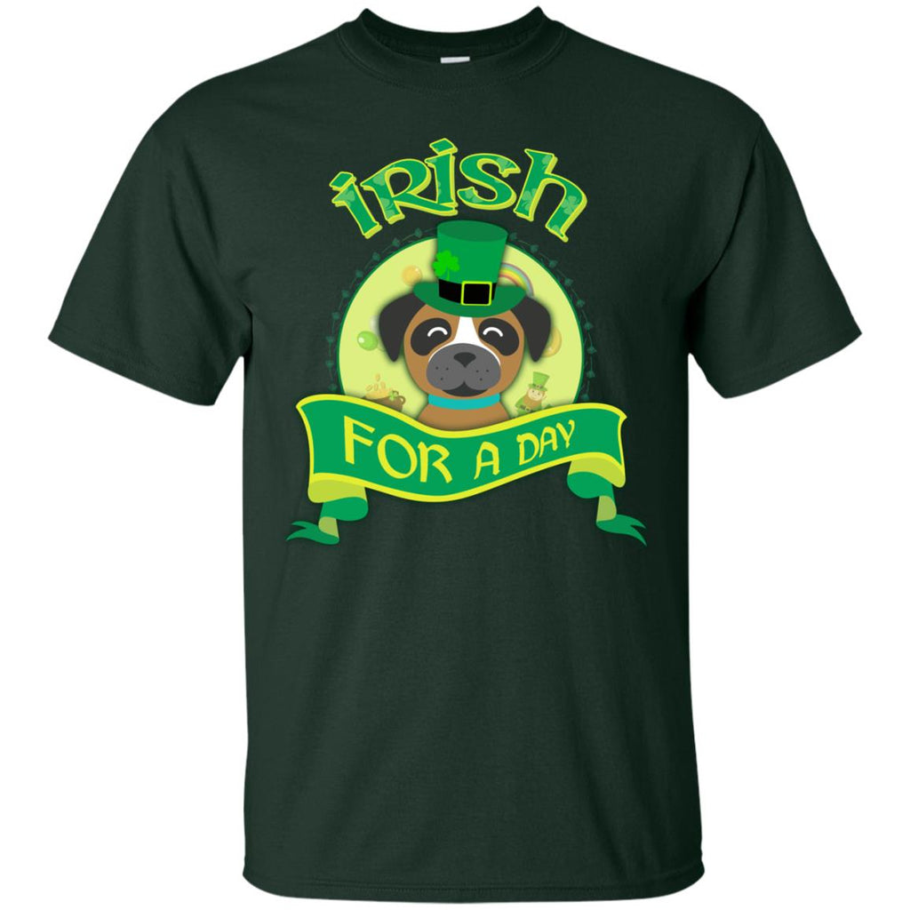 Funny Boxer Dog Shirt Irish For A Day For St. Patrick's Day Gifts