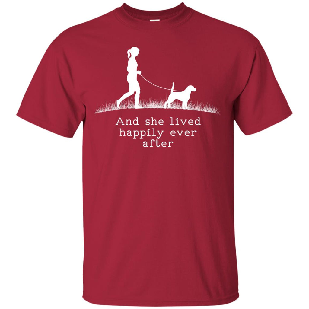 Beagle And She Lived Happily Ever After Dog Tshirt For Lovers