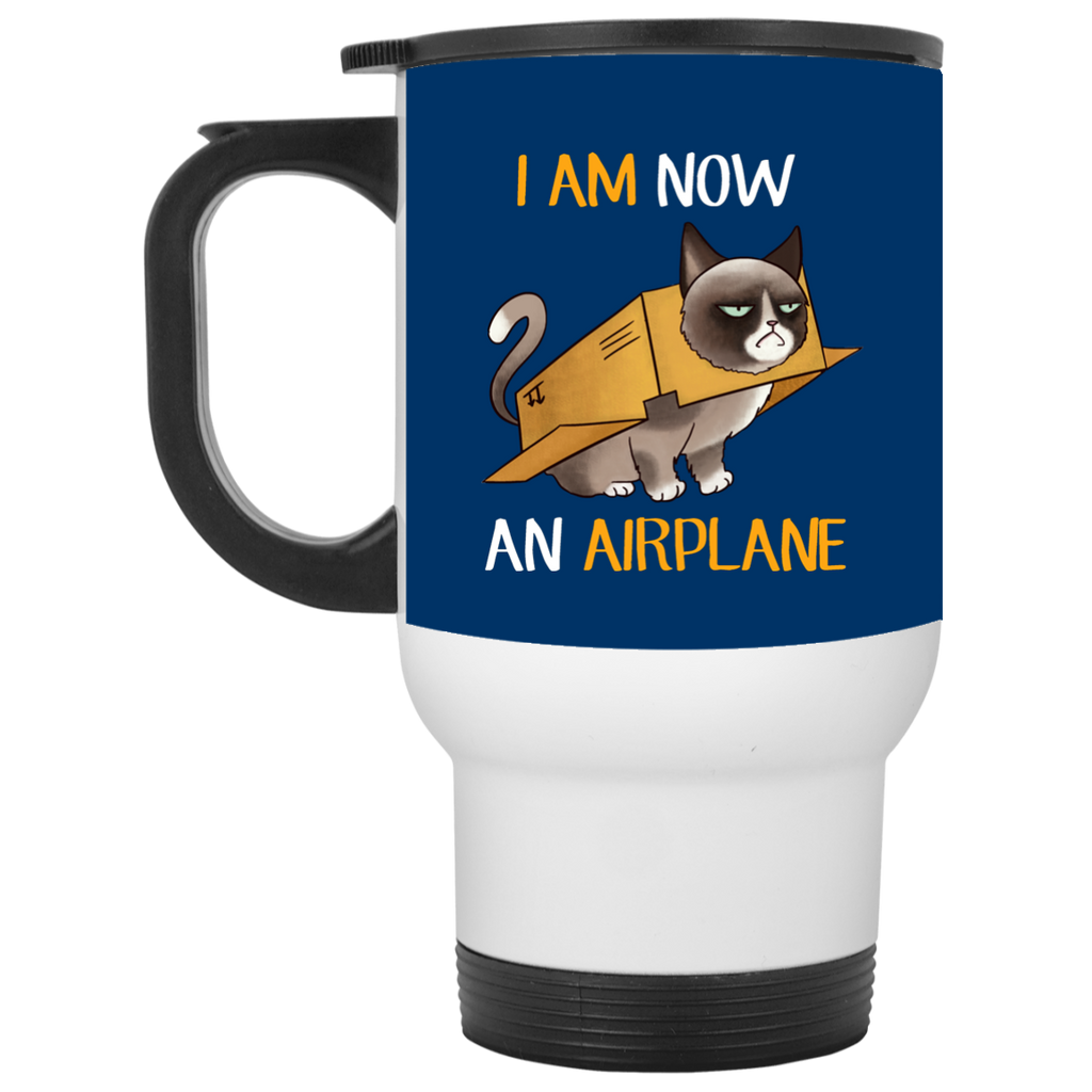 I Am Now An Airplane Cat Mugs