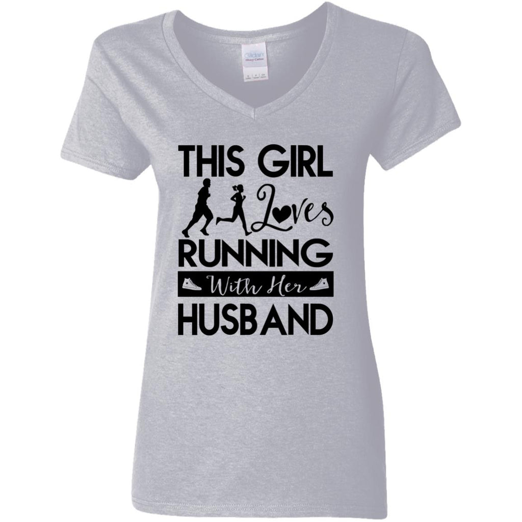 This Girl Loves Running With Her Husband Tshirt Gift