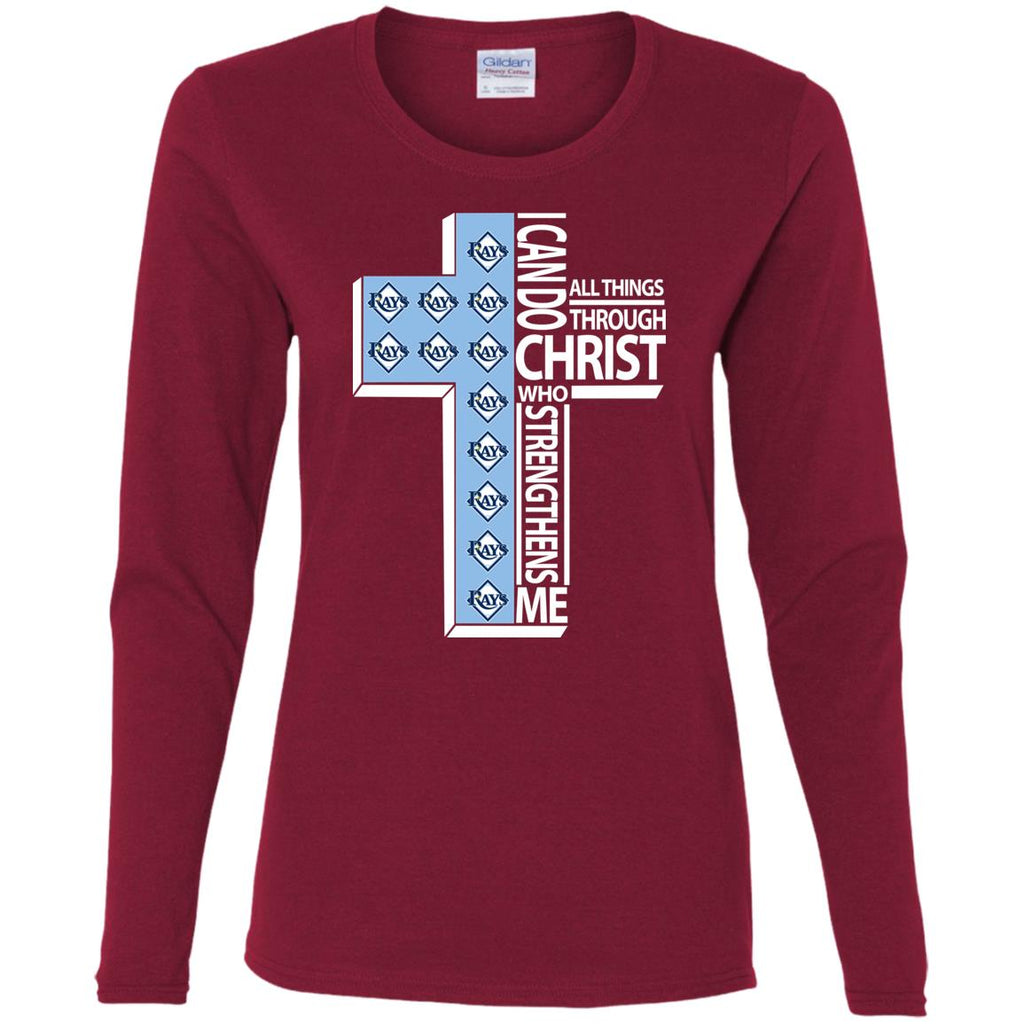 Gorgeous I Can Do All Things Through Christ Tampa Bay Rays T Shirts