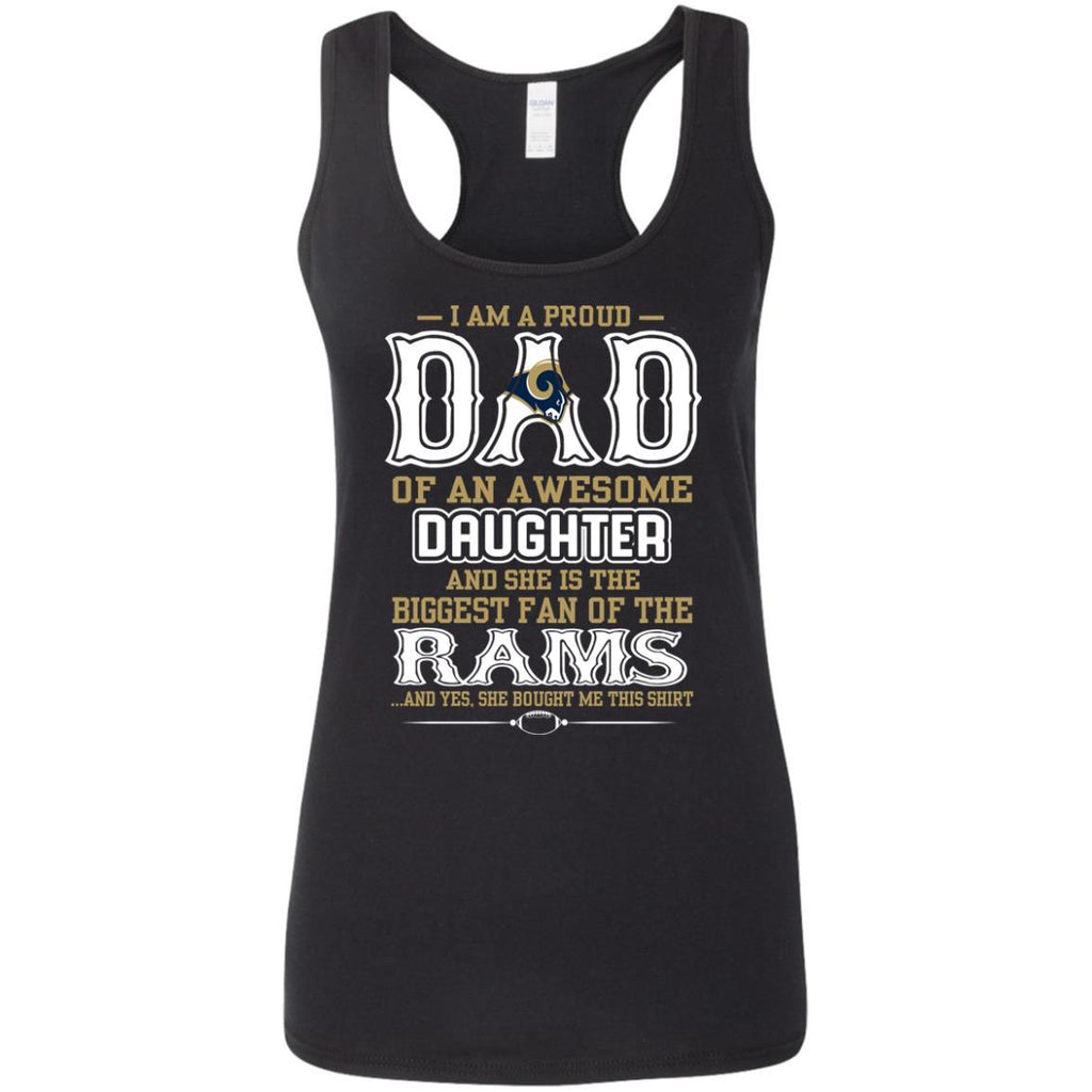 Proud Of Dad with Daughter Los Angeles Rams Tshirt For Fan