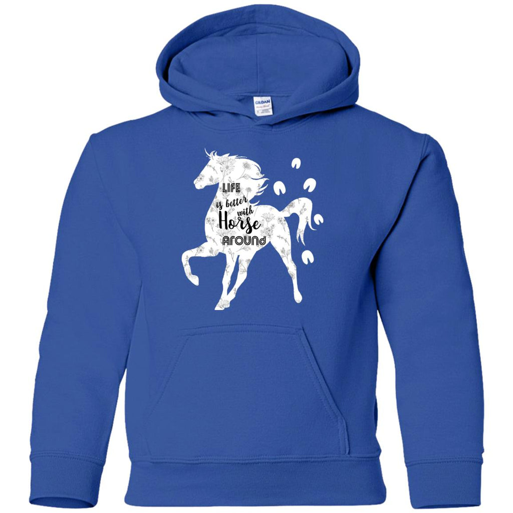 Life Is Better With Horse Around Equestrian Tshirt For Lover