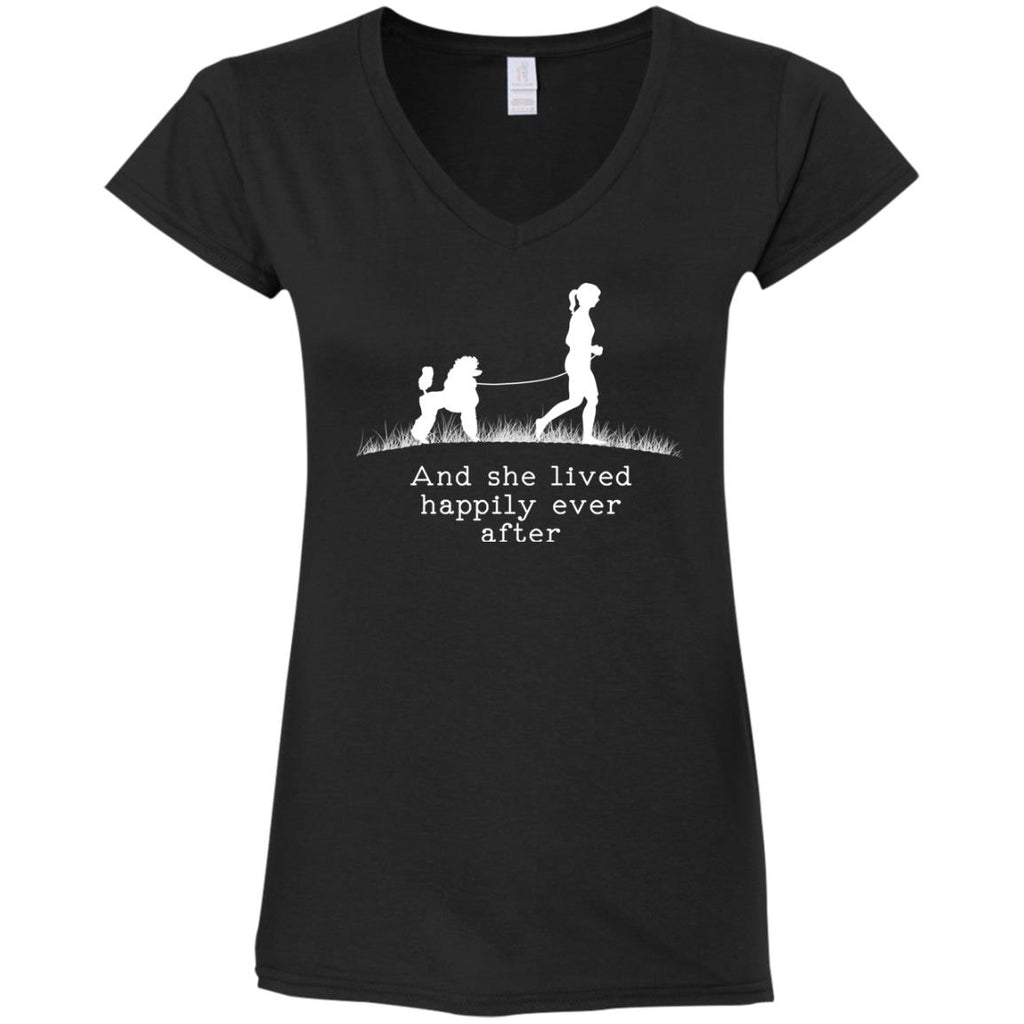 Poodle And She Lived Happily Dog Tshirt For Poo Lover