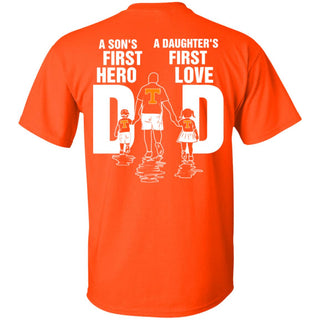 Son Is First Hero Daughter Is First Love Tennessee Volunteers Dad Tshirt