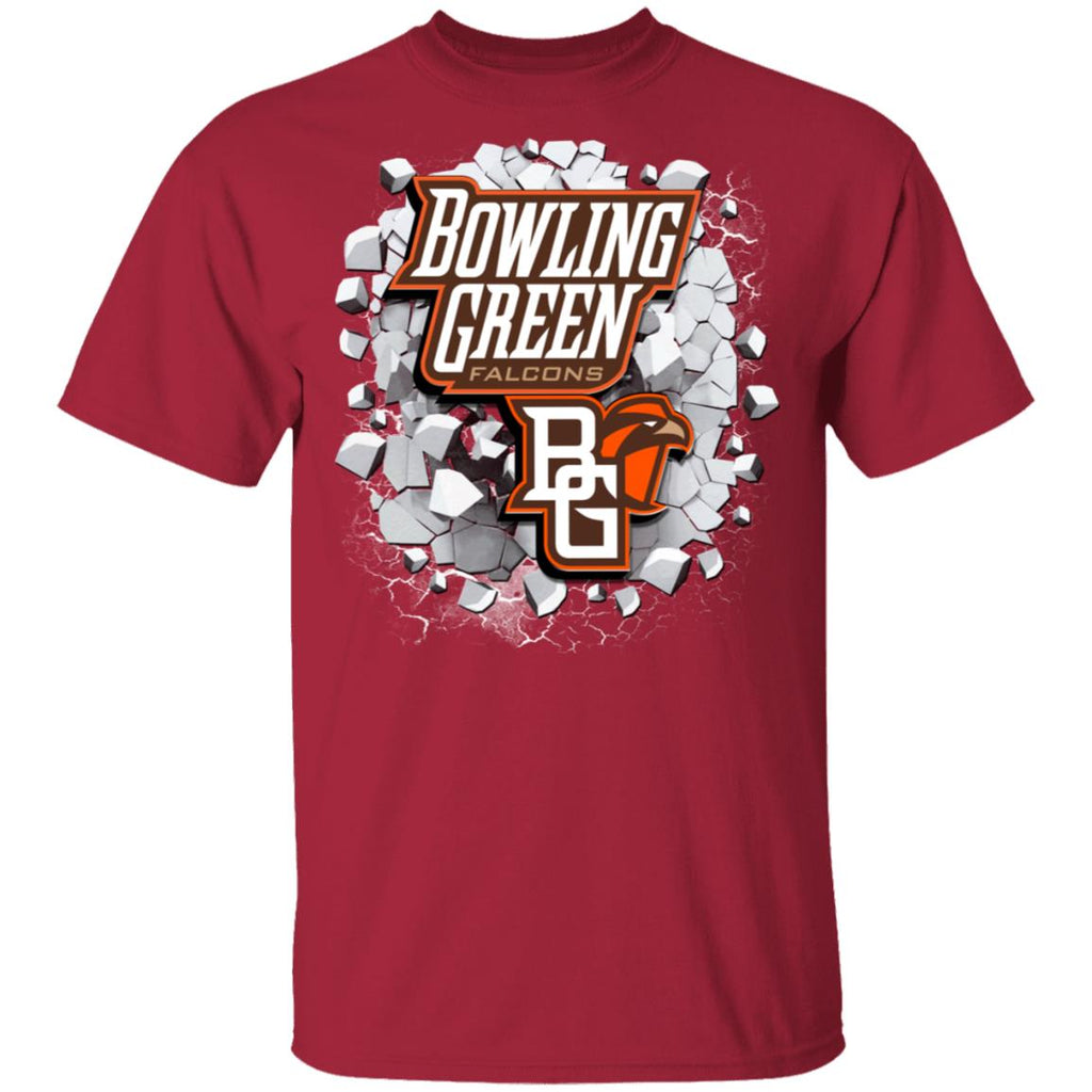 Amazing Earthquake Art Bowling Green Falcons T Shirt