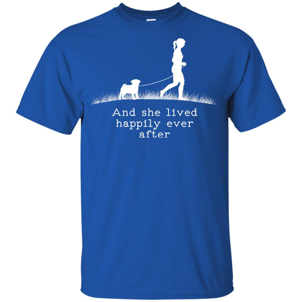 Pug And She Lived Happily Dog Tshirt For Puppy Gift