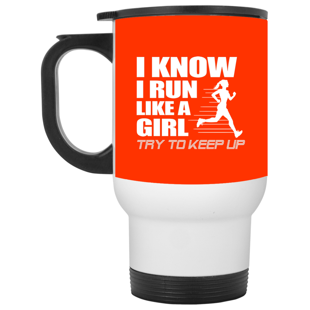 Nice Running Mugs. I know I run like a girl, try to keep up