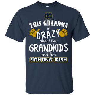 This Grandma Is Crazy About Her Grandkids And Her Notre Dame Fighting Irish T Shirt