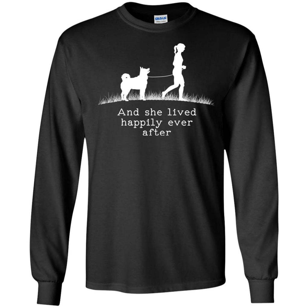 Siberian Husky And She Lived Happily Dog Tshirt For Lover