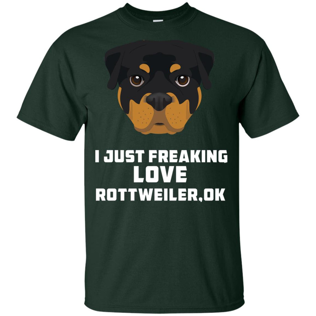 I Just Freaking Love Rottweiler Tshirt For Rottie Dog Gift