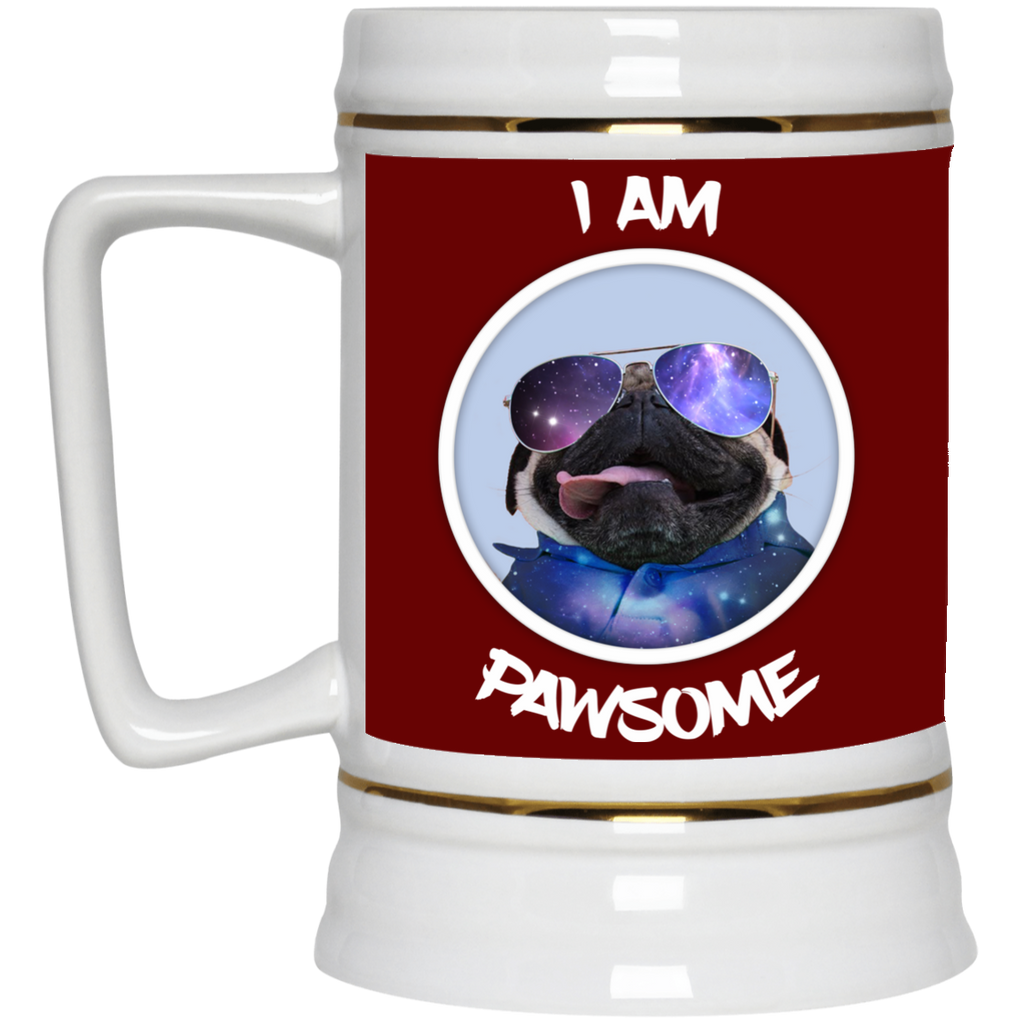 Nice Pug Mug - I Am Pawsome Pug is cool gift for friends
