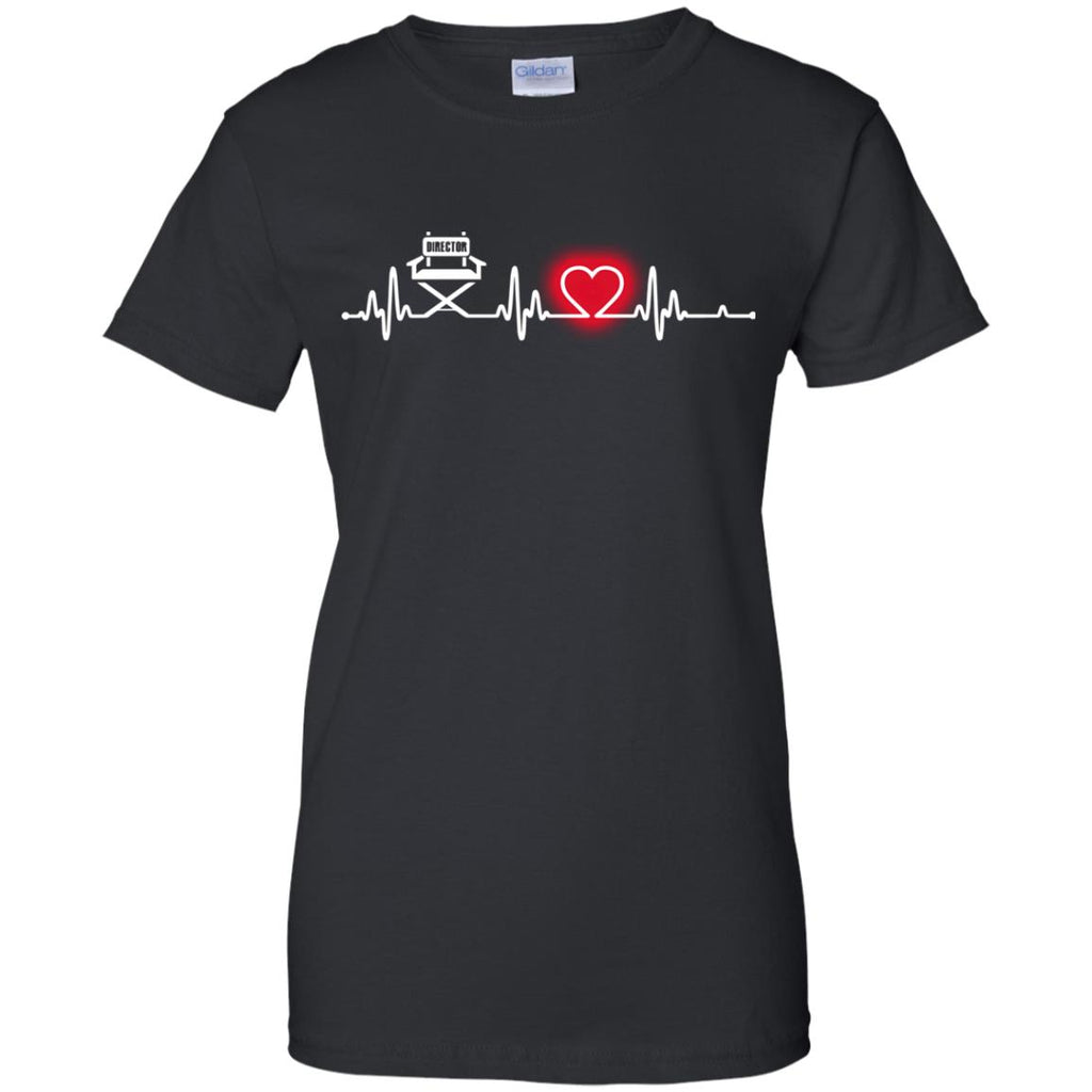 Heart Beat Red Director Tshirt For Lover