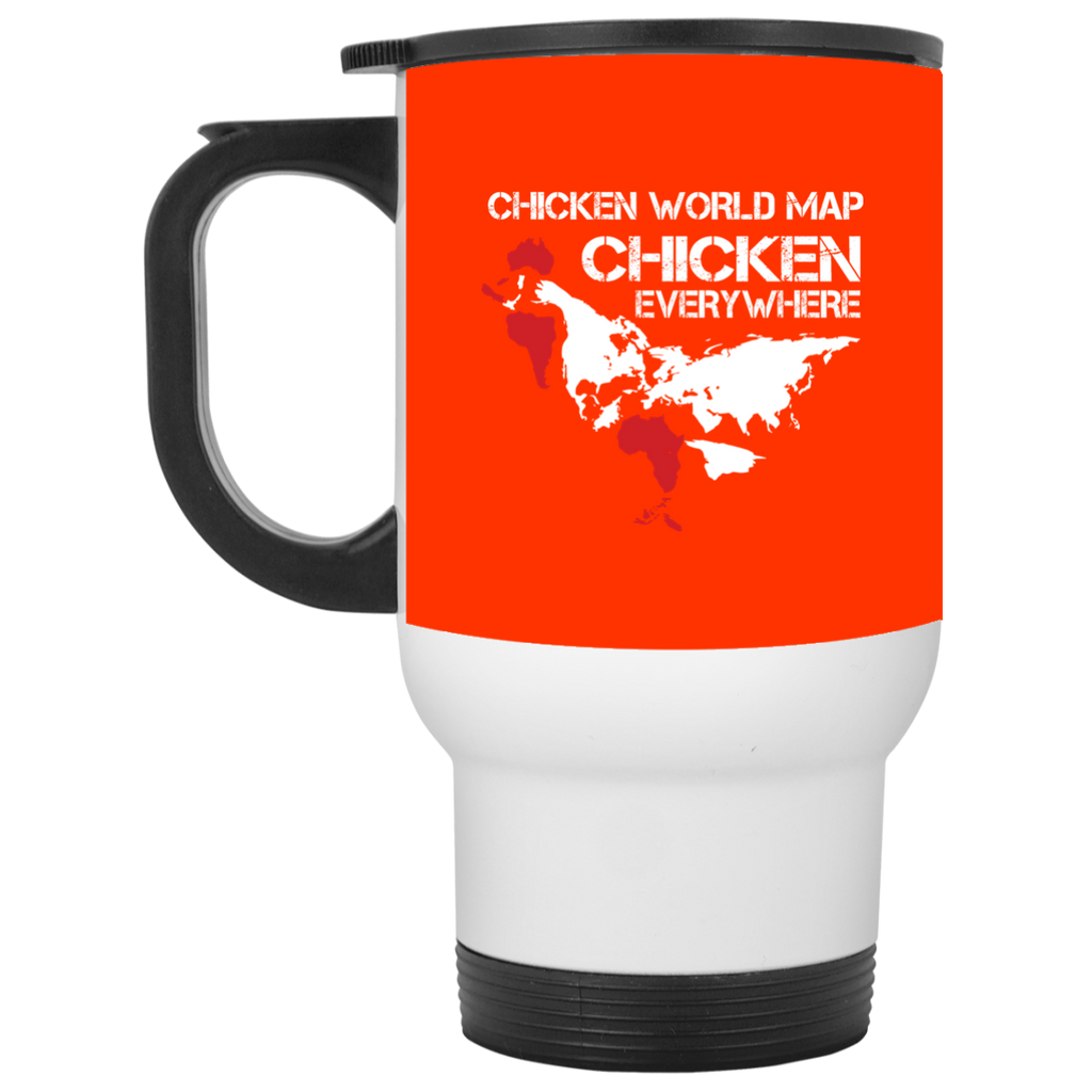 Funny Chicken Mugs - Chicken Map Ver 2, is cool gift for friends