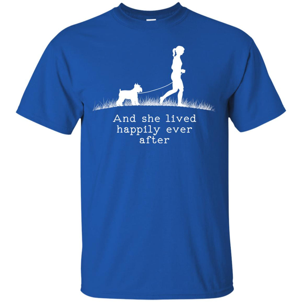 Schnauzer And She Lived Happily Dog Tshirt For Lover