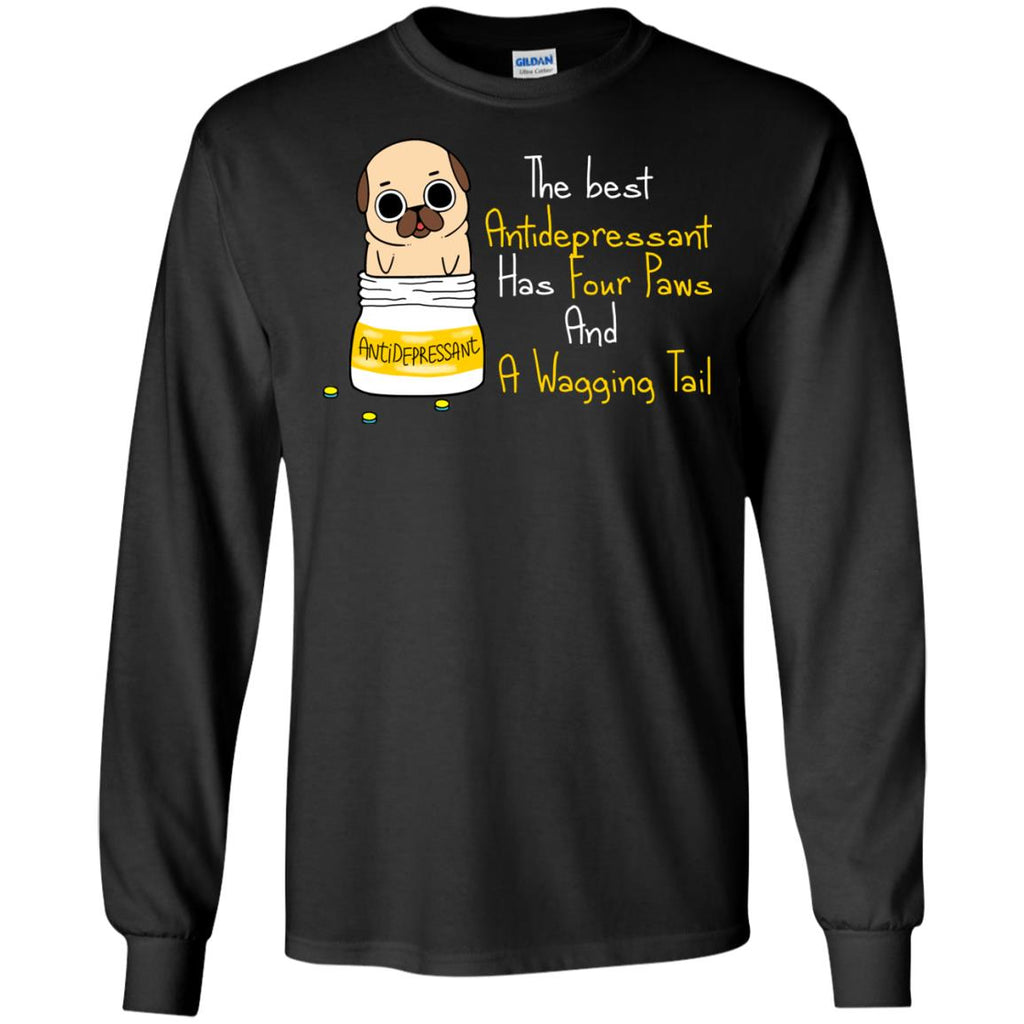 The Most Powerful Antidepressant Pug Tshirt For Lover