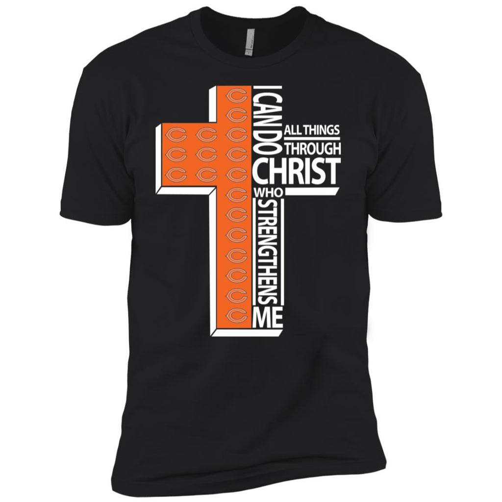 Gorgeous I Can Do All Things Through Christ Chicago Bears Tshirt
