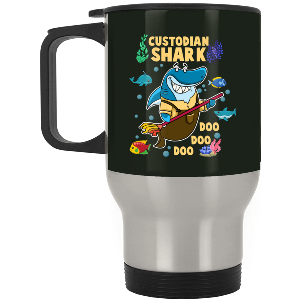 Custodian Shark Doo Doo Doo Mugs