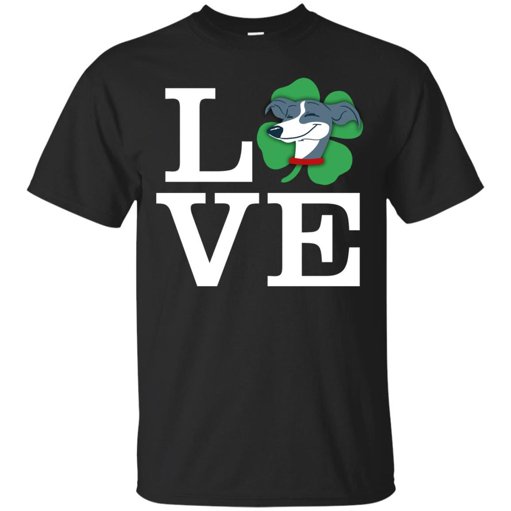 Funny Hound Dog Shirt Love Animals Greyhound St. Patrick's day Gift