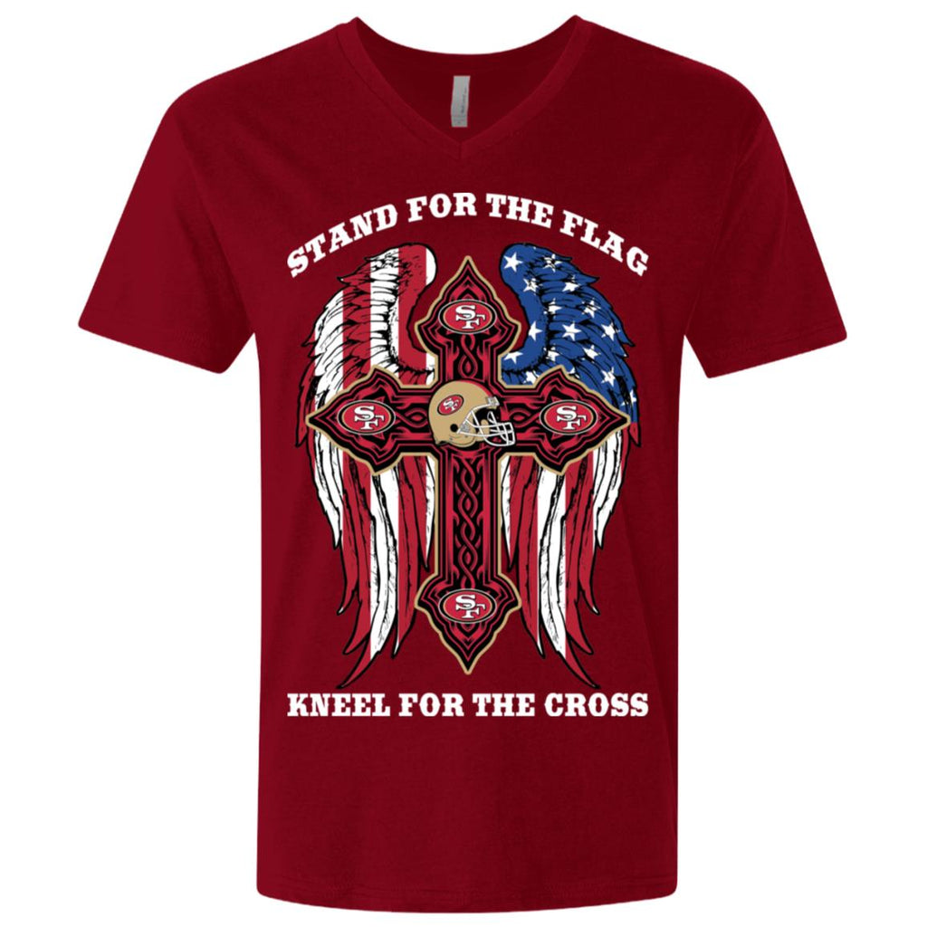 Stand For The Flag Kneel For The Cross San Francisco 49ers Tshirt
