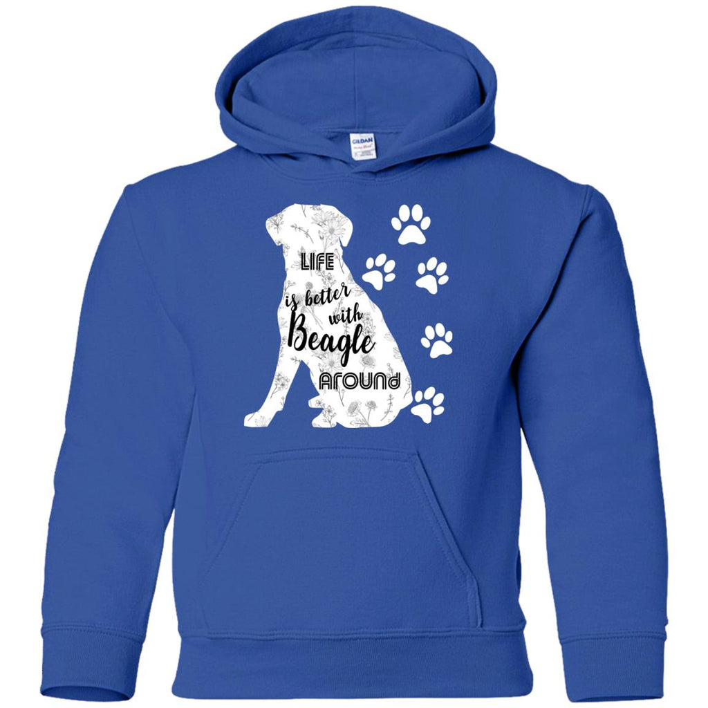 Life Is Better With Beagle Around Puppy Gift Tshirt
