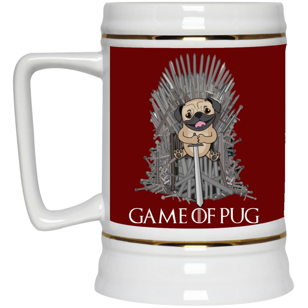 Black Cute Pug Mugs - Game Of Pug, is cool gift for your friends