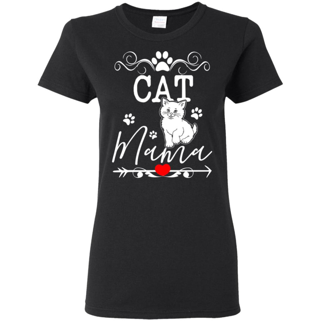 Great Cat Mama T Shirt In Family
