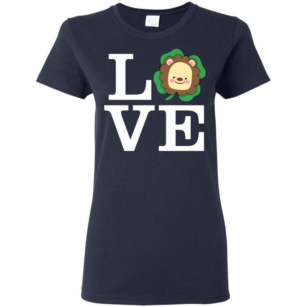Funny Lion Shirt Love Animals St. Patrick's Day Gift