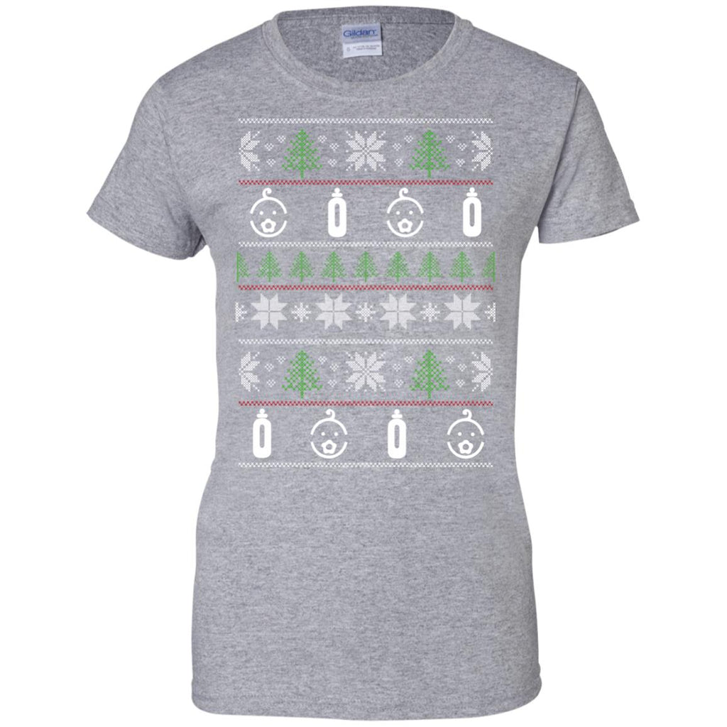 Ugly Sweater Babysister Symbol Tshirt For Lover in Xmas day
