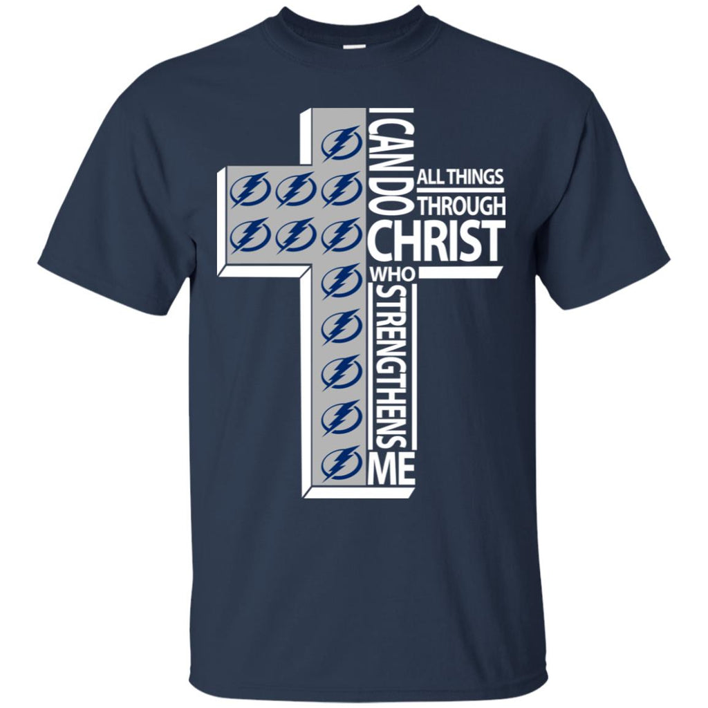 I Can Do All Things Through Christ Tampa Bay Lightning Tshirt