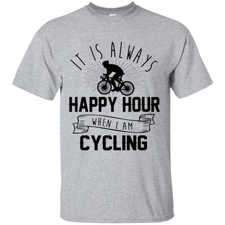 It Is Always Happy Hour Awesome Cycling Tshirt For Lover