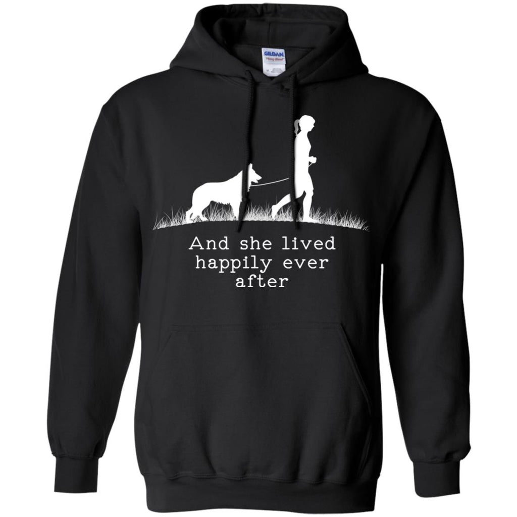 German Shepherd And She Lived Happily Dog Tshirt For Lover