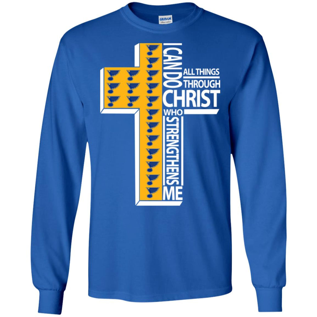 Gorgeous I Can Do All Things Through Christ St. Louis Blues T Shirts