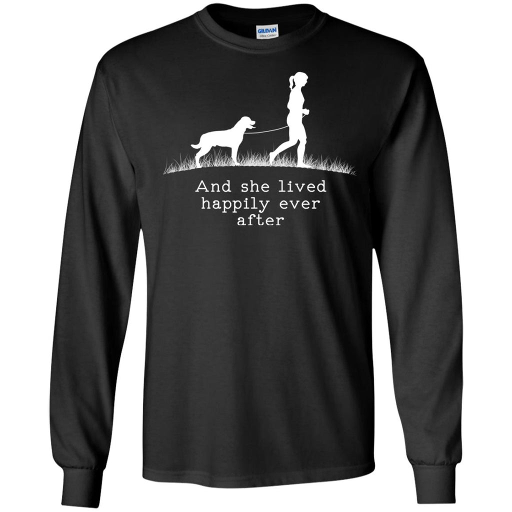 Rottweiler And She Lived Happily Dog Tshirt
