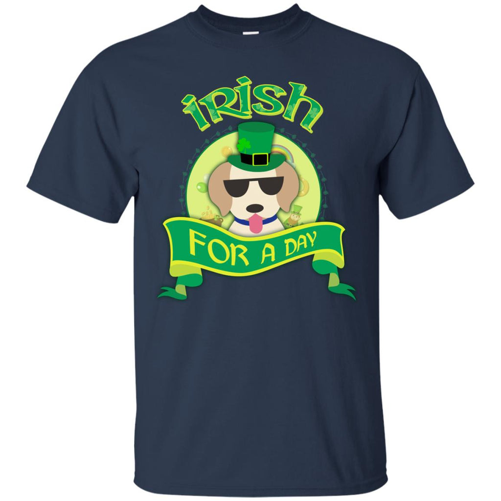 Funny Labrador Tshirt Irish For A Day St. Patrick's Day Labra Dog Gift