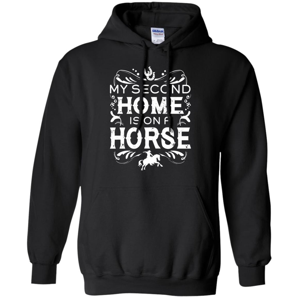 My Second Home Is On A Horse Tshirt For Equestrian Gift
