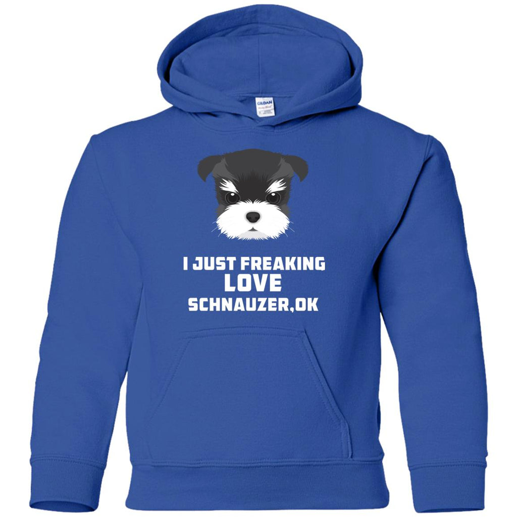 I Just Freaking Love Schnauzer Tshirt For Miniature Terrier Dog Gift