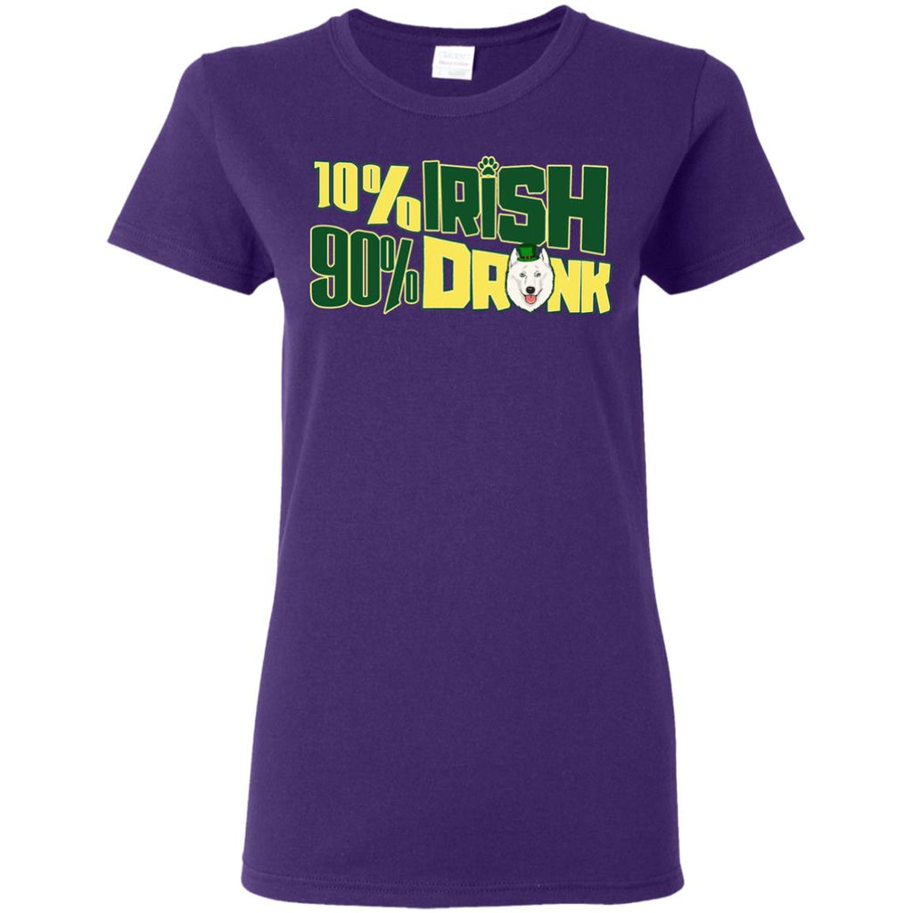 Nice Samoyed Tshirt 10% Irish 90% Drunk is an awesome gift