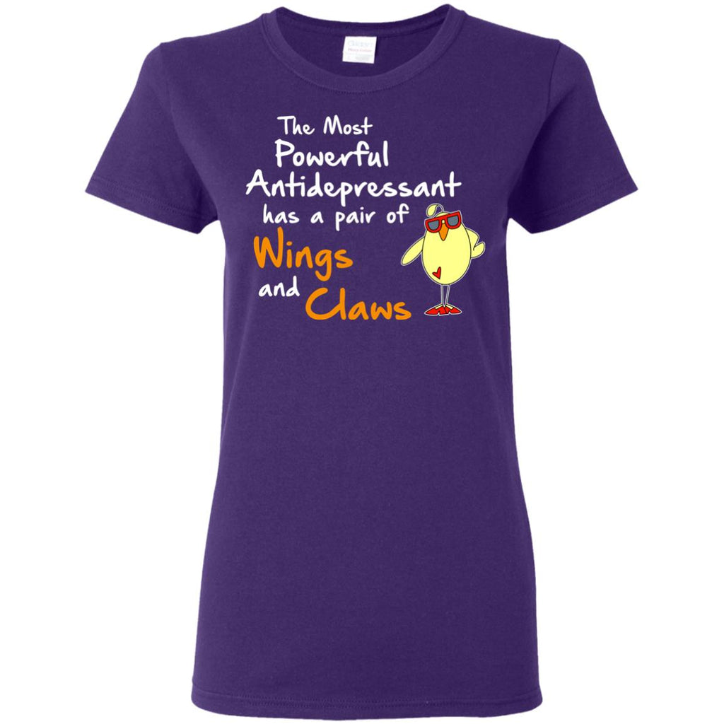 Nice Chicken Tshirt The Most Powerful Antidepressant is cool gift