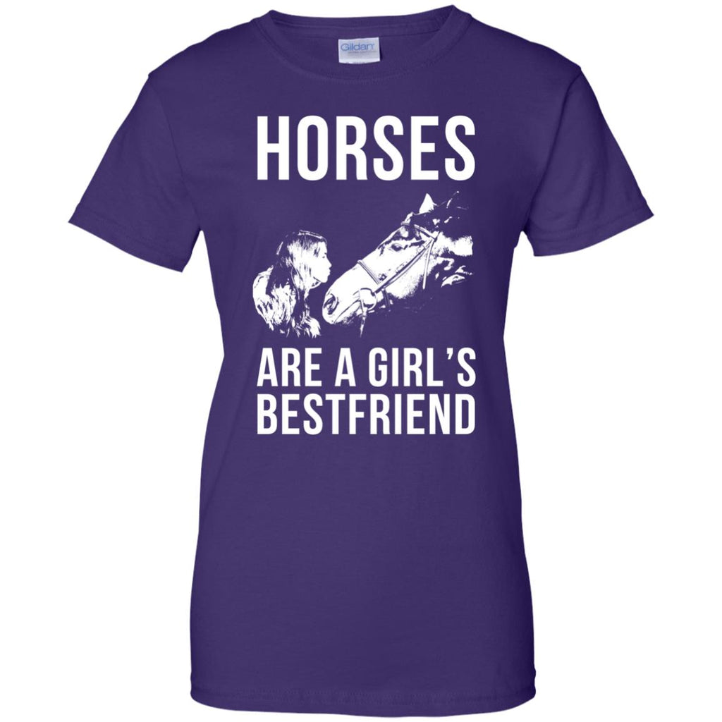 Horses Are A Girl's Bestfriend Horse Tee Shirt For Equestrian Girl