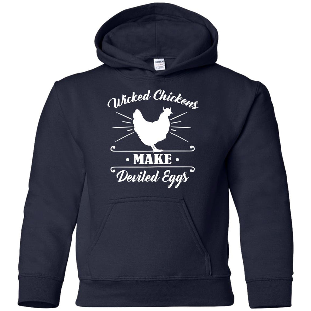 Wicked Chickens Tshirt For Farmer With Farm Living Lover