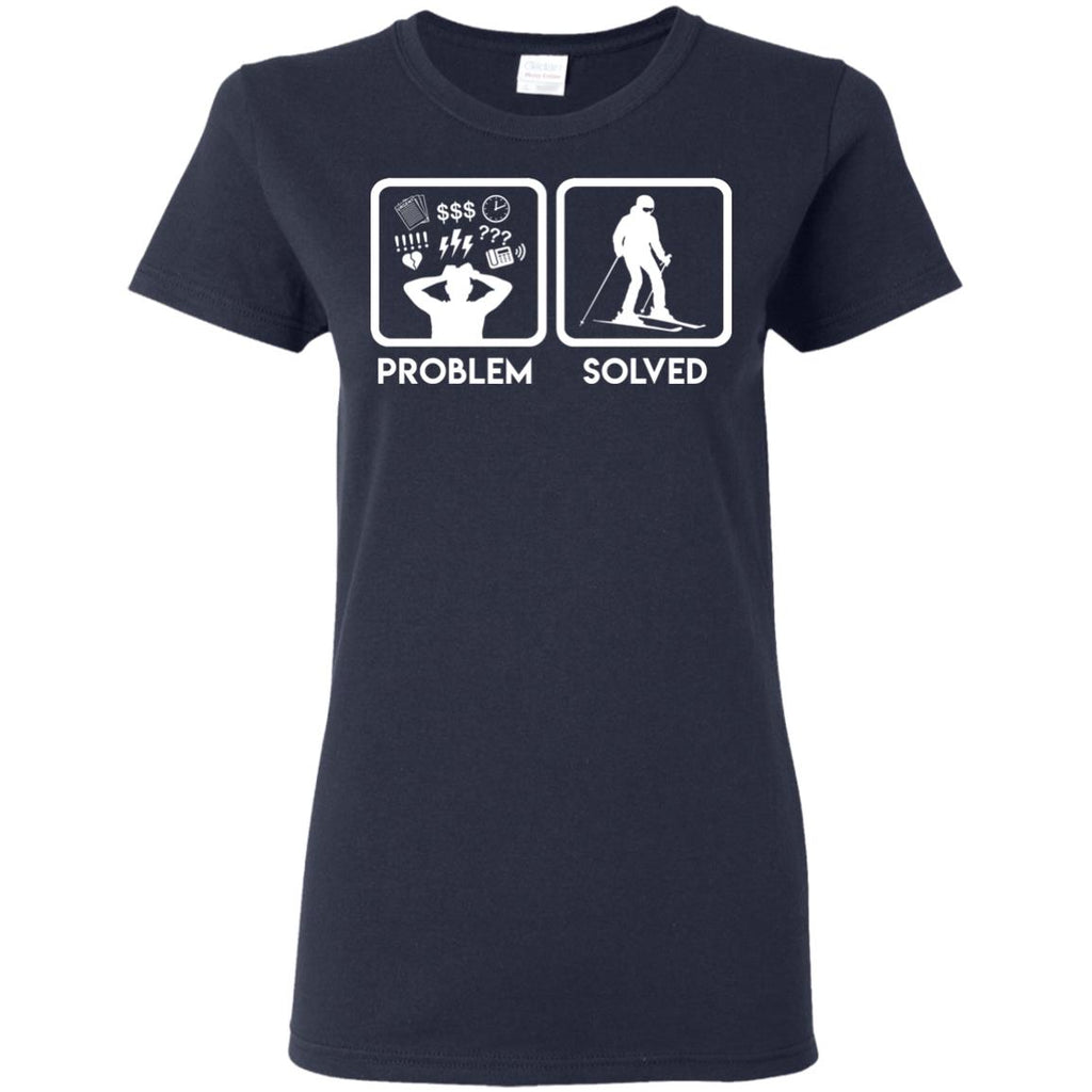 Nice Skiing T-Shirt Problem Solved With Skiing is best gift for you