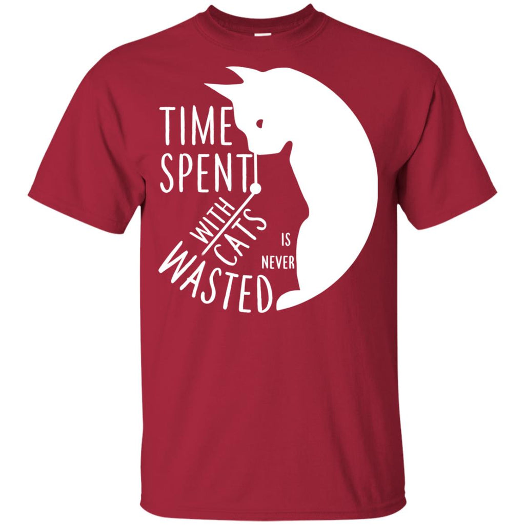 Cat Tee - Time spent with cat is never wasted Tshirt