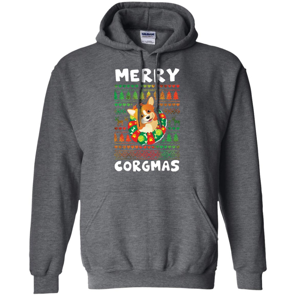 Black Merry Corgmas Awesome Christmas Corgi Shirt