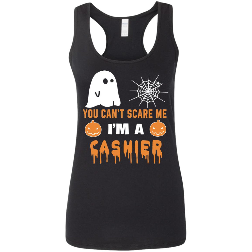 You Can't Scare Me Cashier Halloween Tee Shirt Gift
