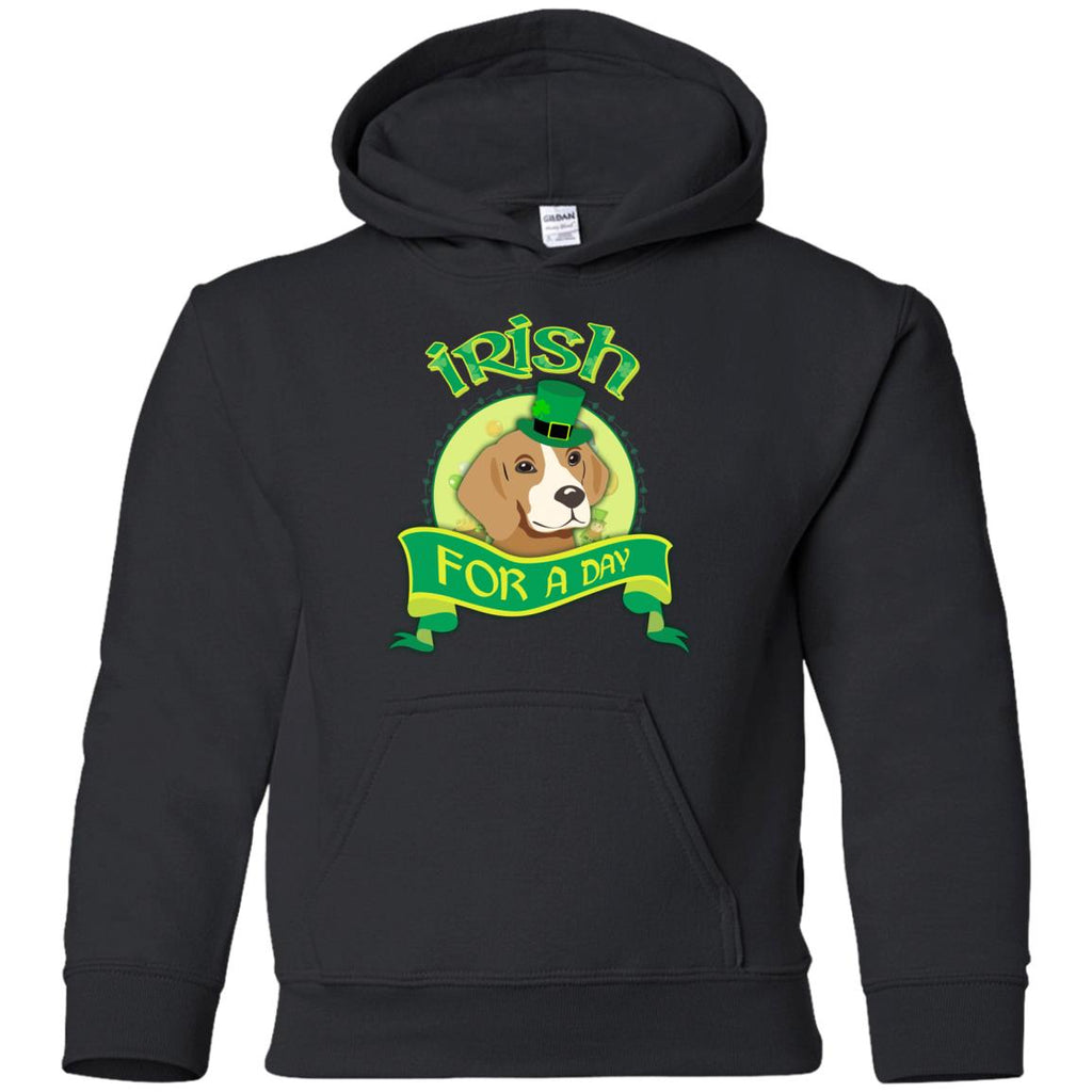 Funny Beagle Dog Shirt Irish For A Day for St. Pattrick's Day Gift
