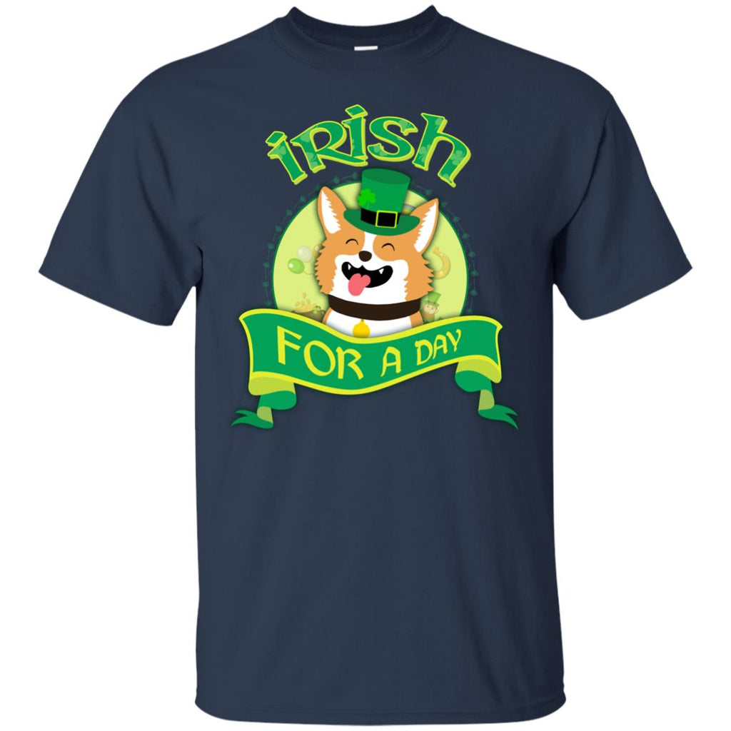 Funny Corgi Shirt Irish For A Day As St. Patrick's Day Pembroke Tshirt
